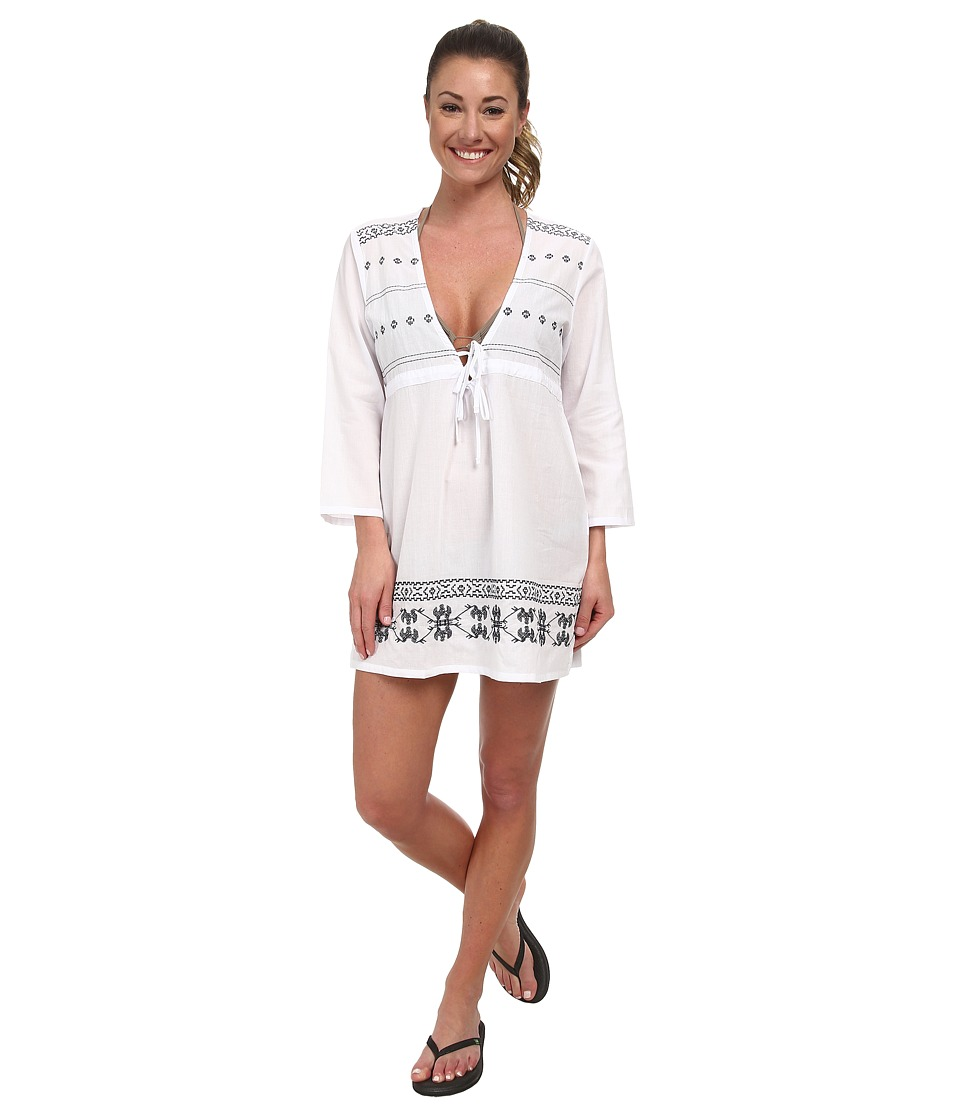 Carve Designs - Lagoon Tunic (White w/ Anchor) Women's Clothing