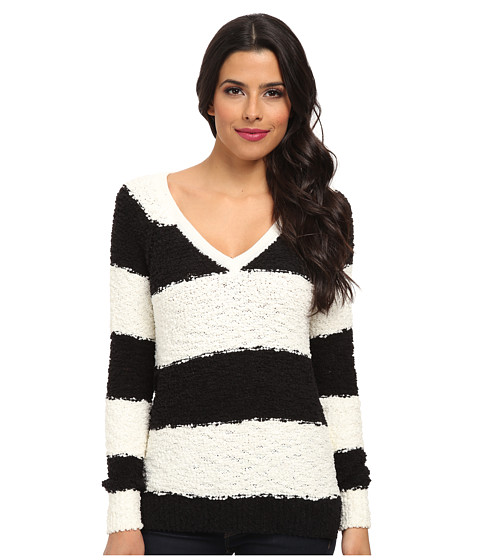 Sanctuary - Teddy Bear Sweater (Black/Ivory) Women's Sweater