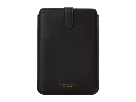 Scotch & Soda - Leather Mini iPad Case (Black) Wallet