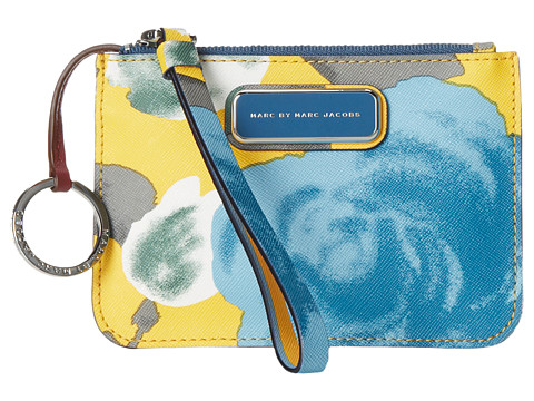 Marc by Marc Jacobs - Sophisticato Jerrie Rose Small Wristlet with Key Ring (Yellow Jacket Multi) Handbags