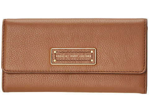 Marc by Marc Jacobs - Too Hot To Handle Long Trifold (Praline 1) Checkbook Wallet