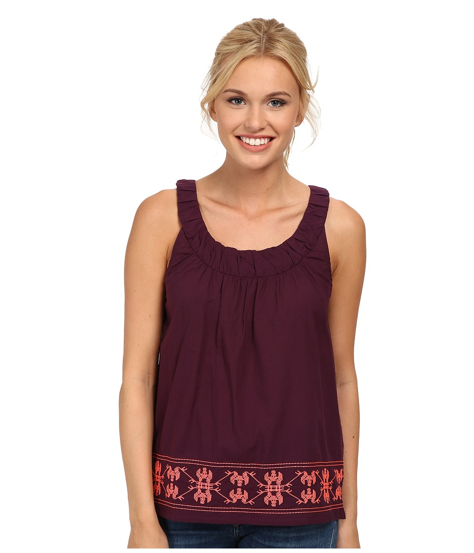 Carve Designs - Lagoon Tank (Plum w/ Papaya) Women's Blouse
