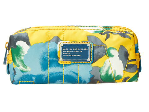 Marc by Marc Jacobs - Pretty Nylon Jerrie Rose Narrow Cosmetic (Yellow Jacket Multi) Cosmetic Case