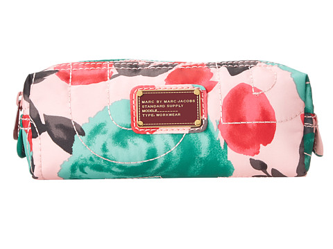 Marc by Marc Jacobs - Pretty Nylon Jerrie Rose Narrow Cosmetic (Desert Rose Multi) Cosmetic Case