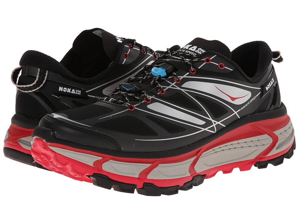 Hoka One One - Mafate Speed (Black/True Red) Men's Running Shoes