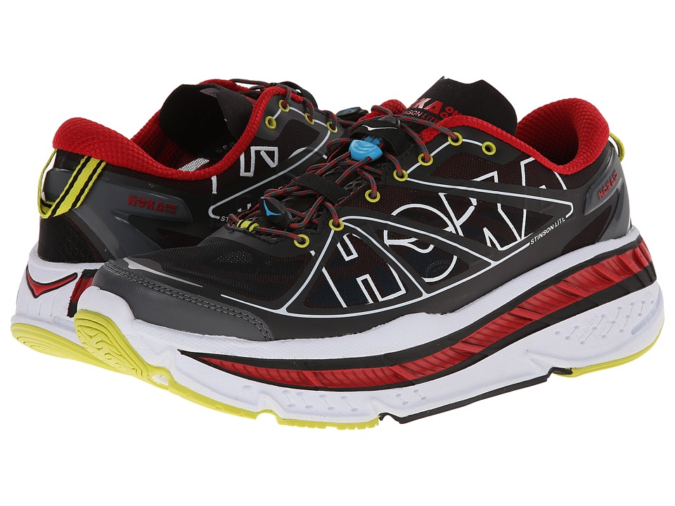 Hoka One One - Stinson Lite (Black/True Red) Men's Running Shoes