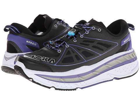 Hoka One One - Stinson Lite (Black/Corsican Blue) Women's Running Shoes