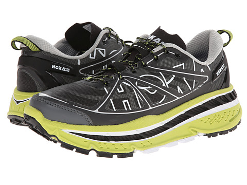 Hoka One One - Stinson ATR (Black/Lime) Men's Running Shoes