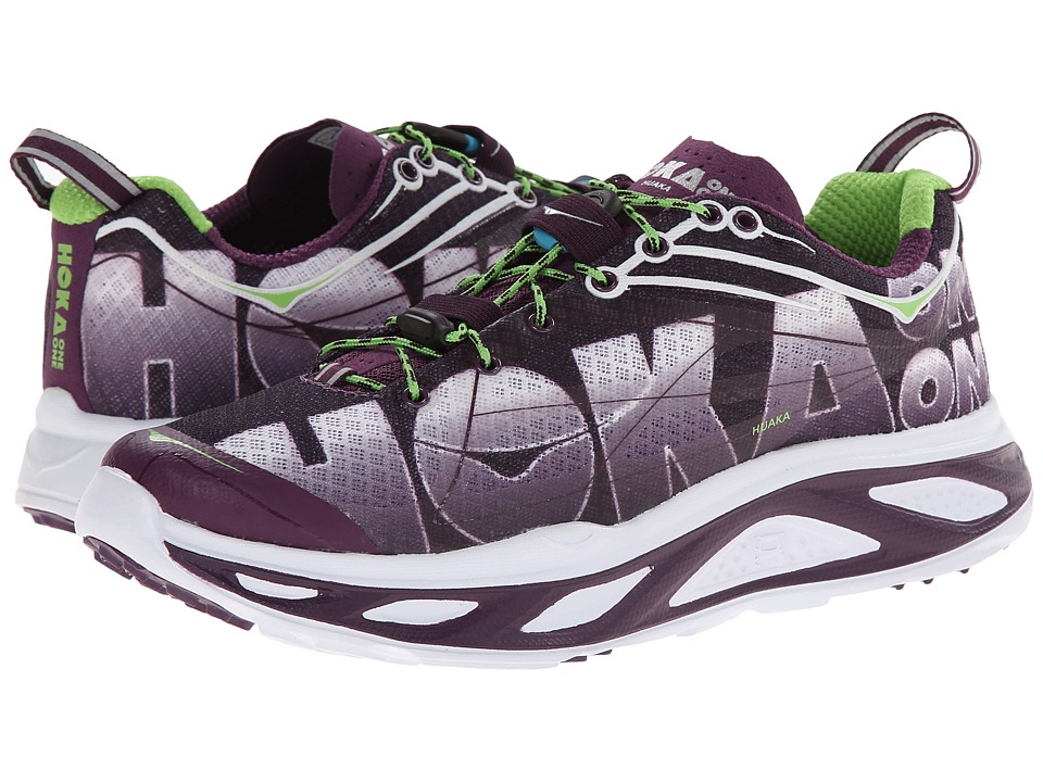 Hoka One One - Huaka (Plum Purple/Jasmine Green) Women's Running Shoes