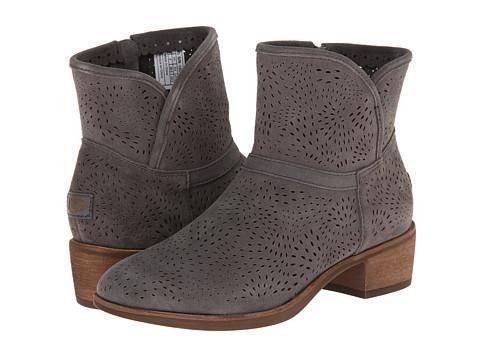 UGG - Darling Seaweed Perf (Charcoal Suede) Women's Dress Zip Boots