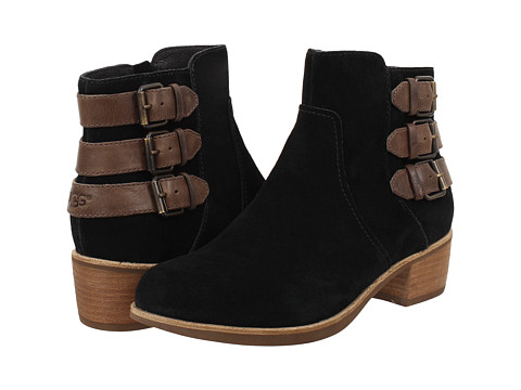 UGG - Volta (Black Suede) Women's Dress Zip Boots