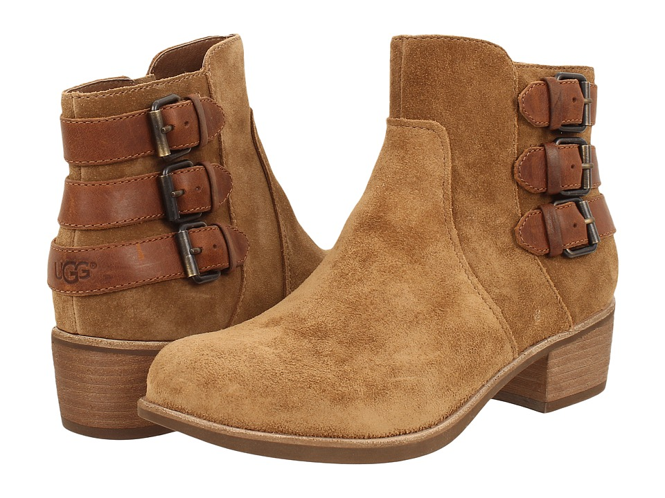 UGG - Volta (Chestnut Suede) Women's Dress Zip Boots