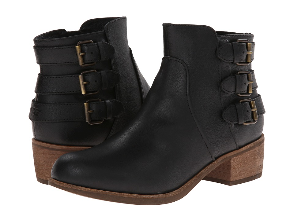 UGG - Volta (Black Leather) Women's Dress Zip Boots