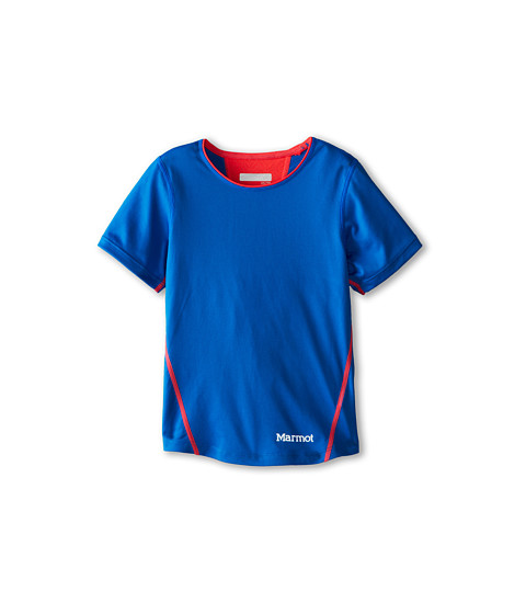 Marmot Kids - Essential S/S Top (Little Kids/Big Kids) (Ceylon Blue/Bright Pink) Girl