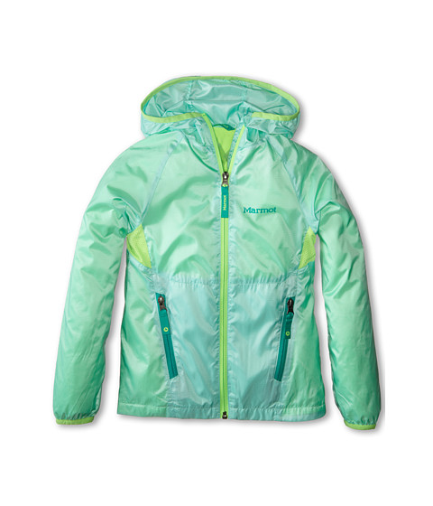 Marmot Kids - Ether Hoody (Little Kids/Big Kids) (Ice Green/Cosmic Green) Girl