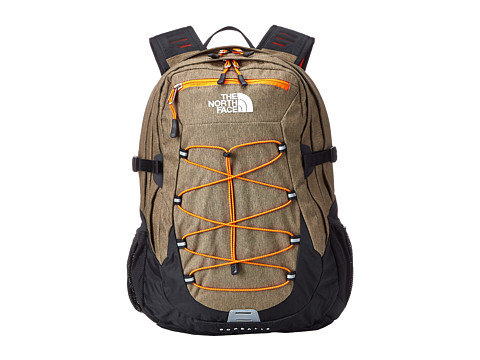 The North Face - Borealis (Utility Brown Heather/Power Orange) Backpack Bags