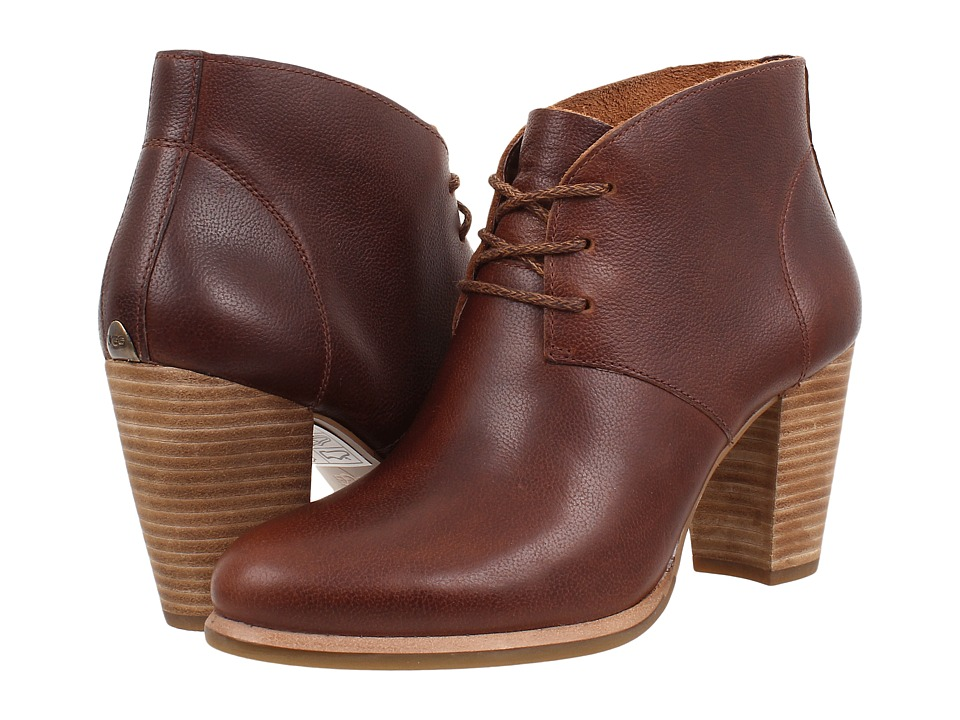 UGG - Mackie (Chestnut Leather) Women's Dress Lace-up Boots
