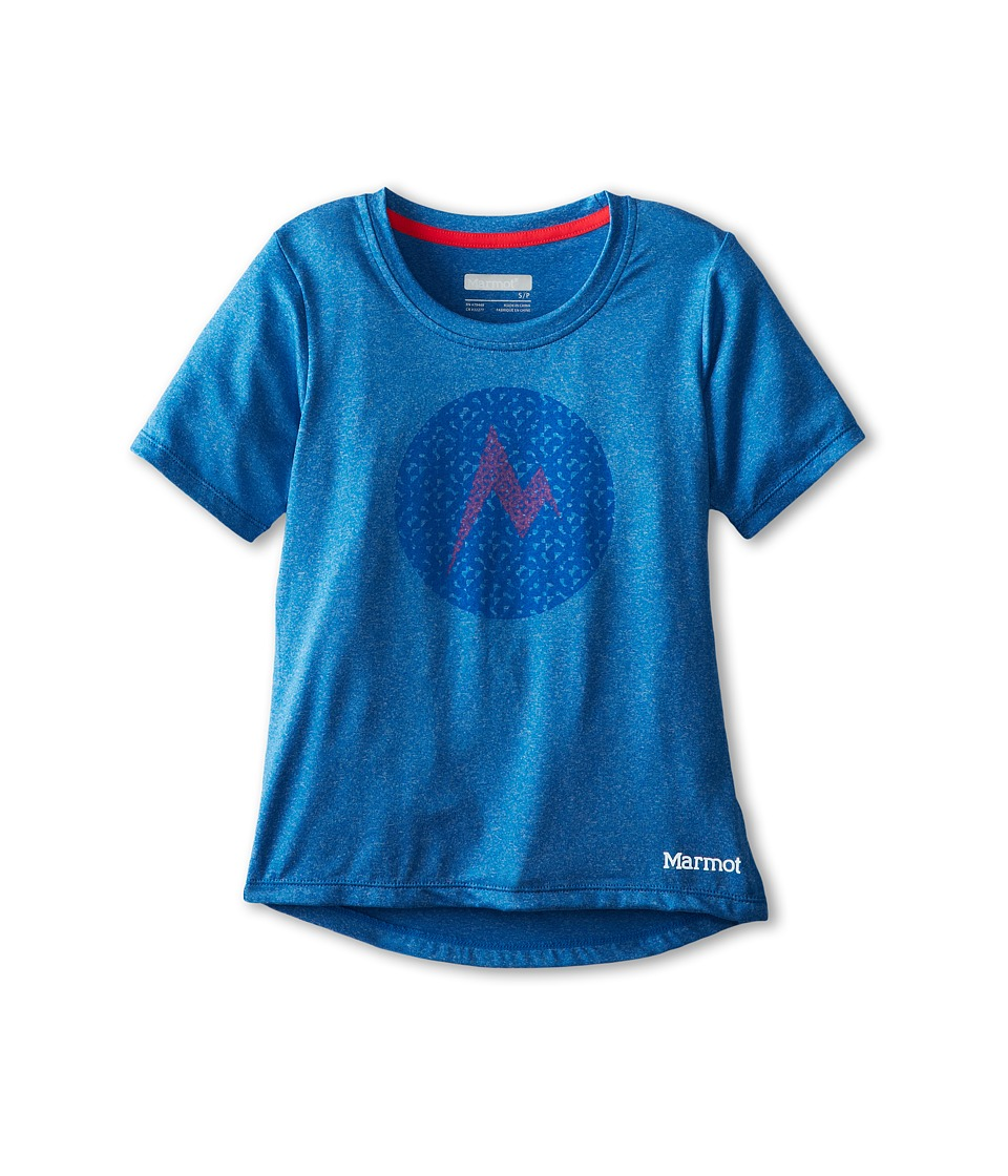 Marmot Kids - Post Time Tee S/S (Little Kids/Big Kids) (Ceylon Blue Heather) Girl