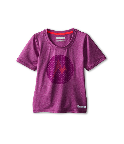 Marmot Kids - Post Time Tee S/S (Little Kids/Big Kids) (Beet Purple Heather) Girl