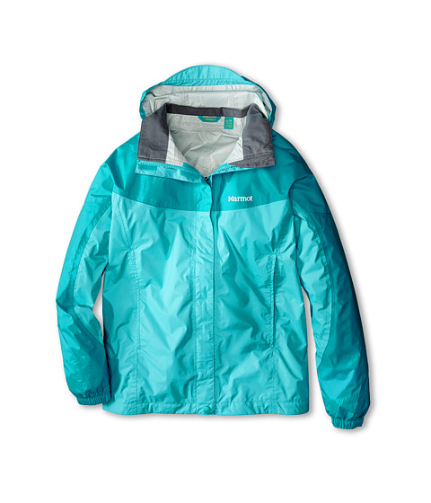 Marmot Kids - Girl's PreCip Jacket (Little Kids/Big Kids) (Light Aqua/Sea Breeze) Girl's Coat