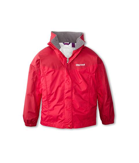 Marmot Kids - Girl's PreCip Jacket (Little Kids/Big Kids) (Raspberry/Dark Raspberry) Girl's Coat