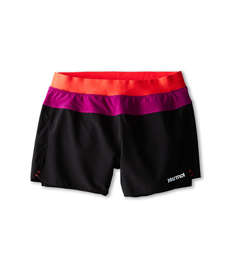 Marmot Kids - Pulse Short (Little Kids/Big Kids) (Black/Bright Pink) Girl