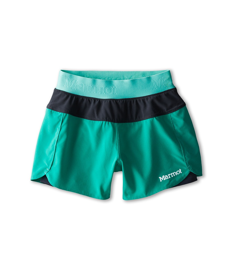 Marmot Kids - Pulse Short (Little Kids/Big Kids) (Gem Green/Ice Green) Girl