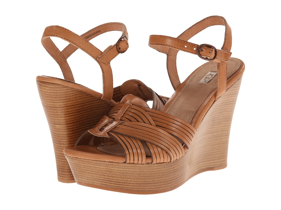 UGG - Allvey (Suntan Leather) Women's Wedge Shoes