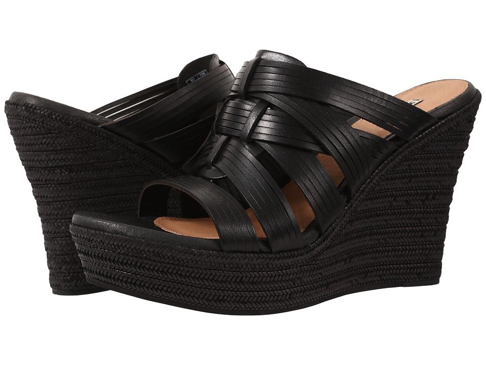 UGG - Melinda (Black Leather) Women's Wedge Shoes