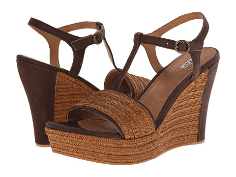 UGG - Fitchie (Chocolate Leather) Women's Wedge Shoes