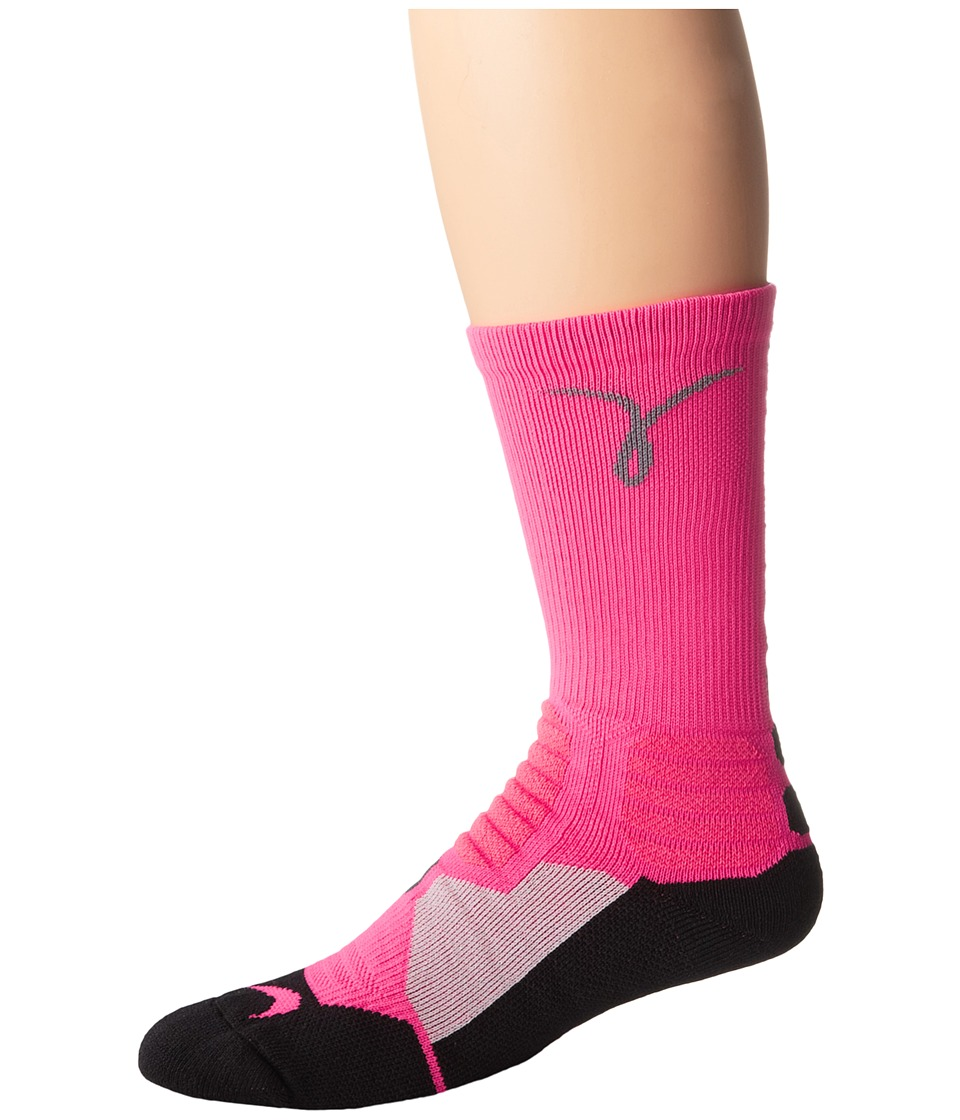 Nike - Hyperelite Basketball Kay (Hyper Pink/Black/Cool Grey) Crew Cut Socks Shoes