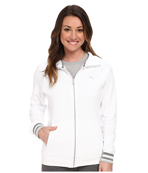 PUMA - Sweat Jacket (White/Limestone) Women