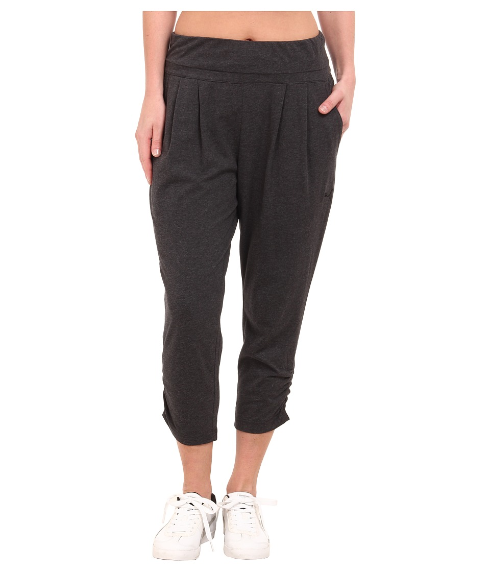 PUMA - Style 3/4 Drapy Pants (Dark Gray Heather/Black) Women's Workout