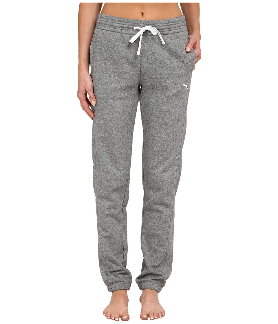PUMA - Sweat Pant (Medium Gray Heather/White) Women's Casual Pants