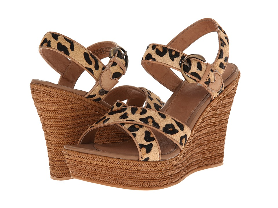 UGG - Jazmine Calf Hair Leopard (Chestnut Leopard Calf Hair) Women's Wedge Shoes