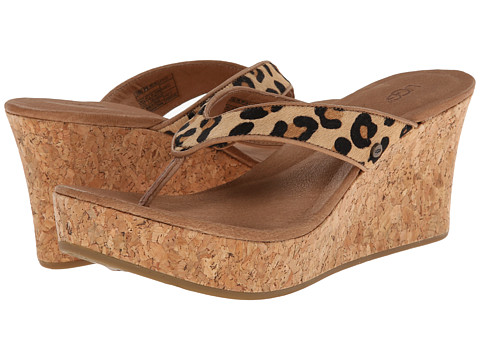 UGG - Natassia Calf Hair Leopard (Chestnut Leopard Calf Hair) Women