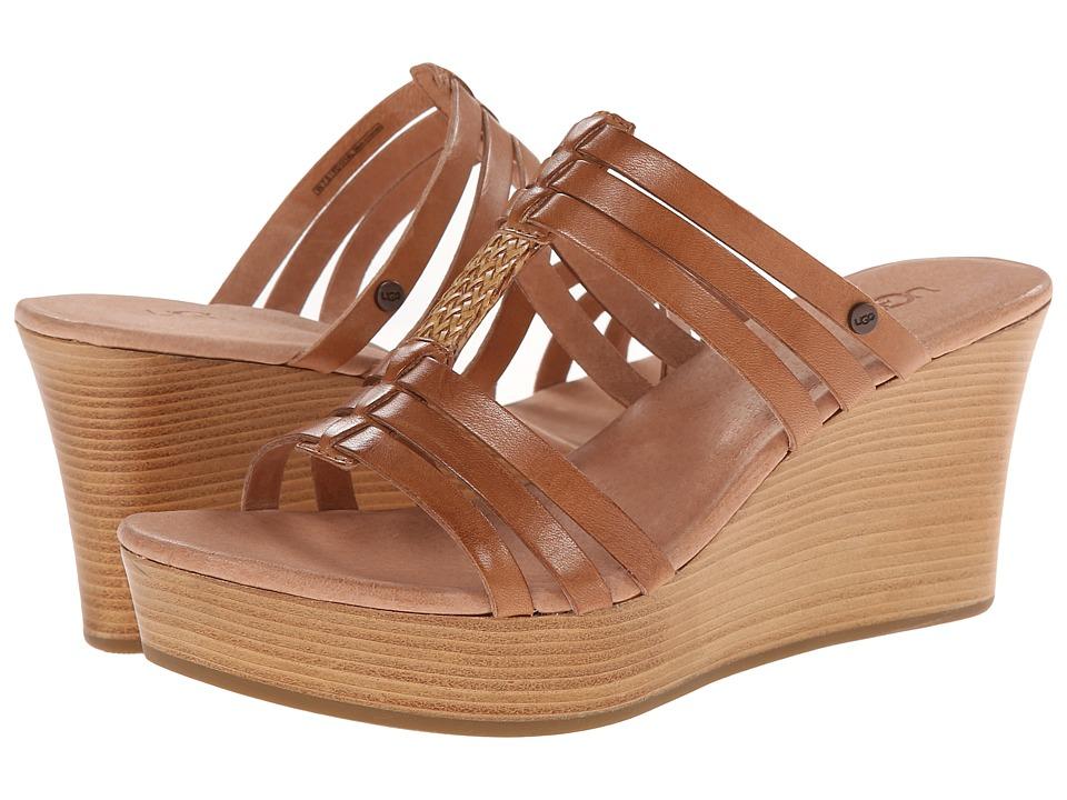 UGG - Mattie (Suntan Leather) Women's Wedge Shoes