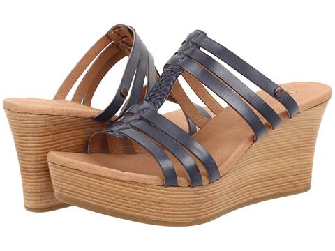 UGG - Mattie (Navy Leather) Women's Wedge Shoes