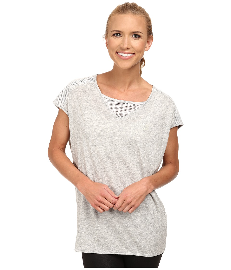 PUMA - Loose Fit Tee (Light Gray Heather/Gray) Women's T Shirt