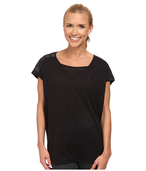 PUMA - Loose Fit Tee (Black/Black) Women's T Shirt
