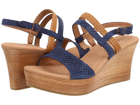 UGG - Lira Mar (Navy Suede) Women's Wedge Shoes