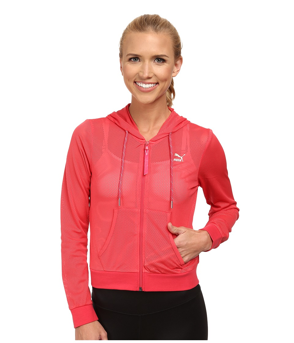 PUMA - Mesh Cover Up (Geranium) Women's Jacket