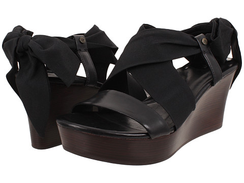 UGG - Sedona (Black/Textile/Leather) Women's Wedge Shoes