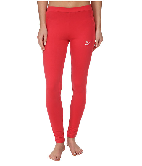 PUMA - Mesh Detail Leggings (Geranium) Women's Casual Pants