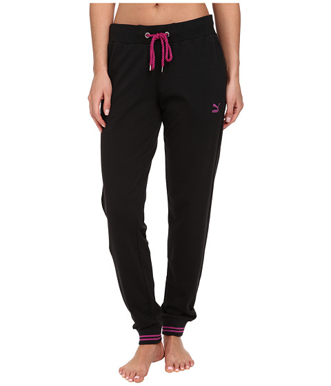 PUMA - Sweat Pants (Black/Vivid Viola) Women's Workout