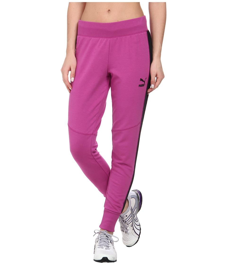 PUMA - Slim Sweatpant (Vivid Viola) Women's Casual Pants