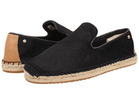 UGG - Sandrinne Calf Hair Scales (Black Calf Hair) Women's Slip on Shoes