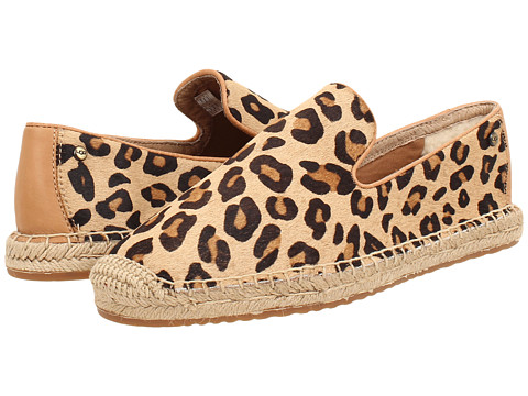 UGG - Sandrinne Calf Hair Leopard (Chestnut Leopard Calf Hair) Women's Slip on Shoes