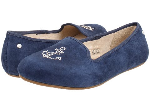 UGG - Sea Glisten (Anchor Navy Suede) Women's Slip on Shoes
