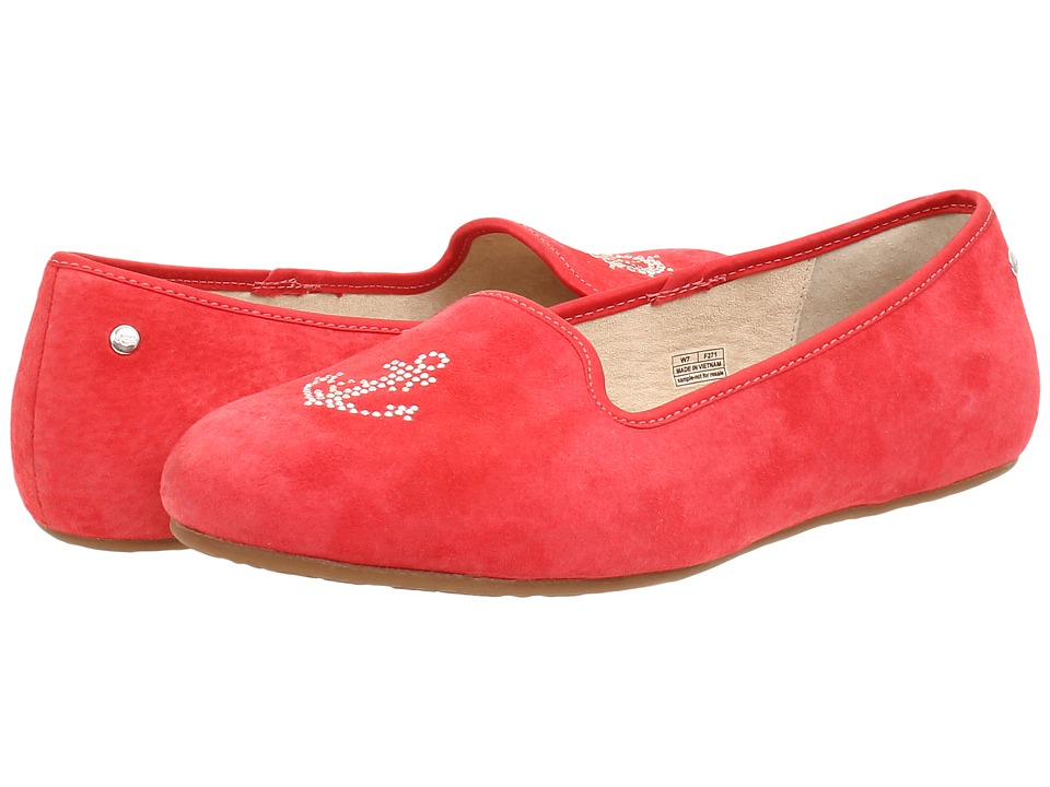 UGG - Sea Glisten (Anchor Red Suede) Women's Slip on Shoes